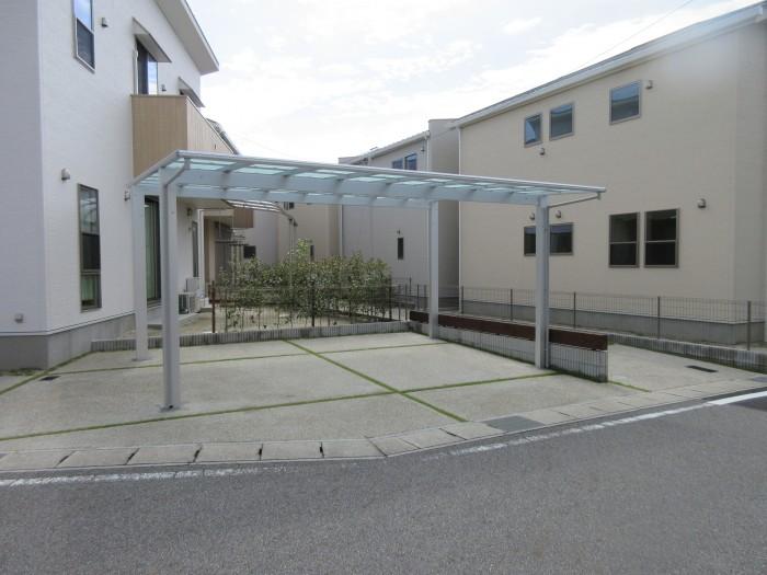 瀬戸市 2台用カーポート YKK エフルージュツイン テラス屋根 A様