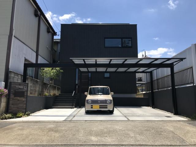 尾張旭市 ヘーベルハウス 新築 モノトーンオープン外構 T様邸