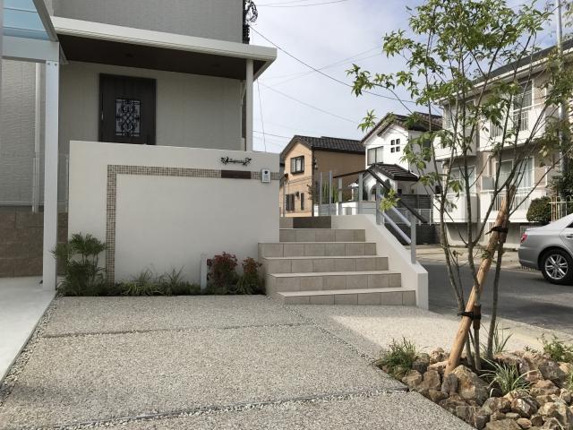 長久手市 トヨタホーム 新築 シンプルオープン外構 S様邸