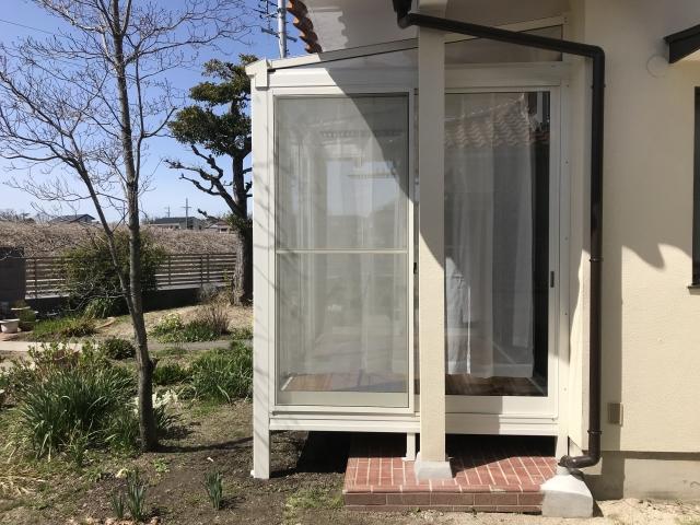 守山区 K様邸 サンルーム 大仙フレッシュルーフ 1.5間×6尺