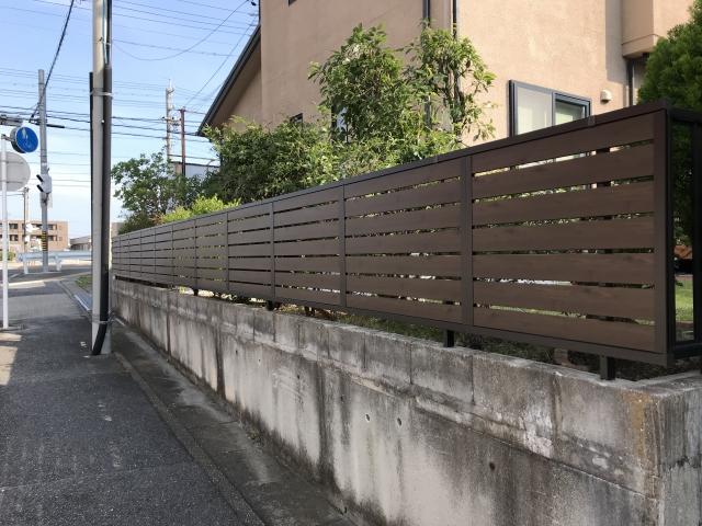 名東区 Y様邸 目隠しフェンス 三協シャトレナM1型