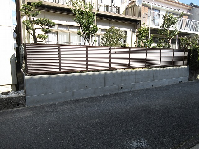 守山区 ブロック塀をフェンスに改修 地震対策 三協アルミ シャトレナ3型