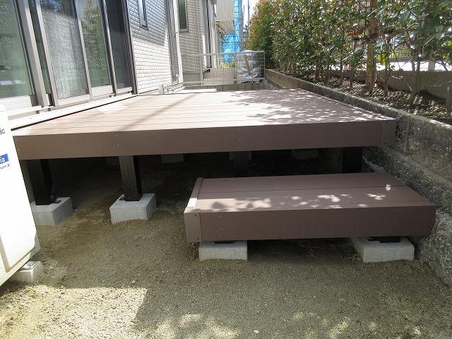 守山区 M様 YKKAP リウッドデッキ200 1.5K×7尺 ステップデッキ