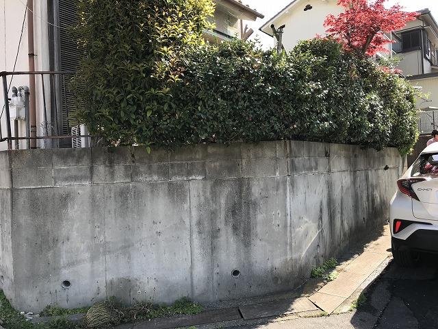 瀬戸市 A様 植木処分フェンス処分 変更 目隠しフェンス YKKap シンプレオ SY1型 H=800