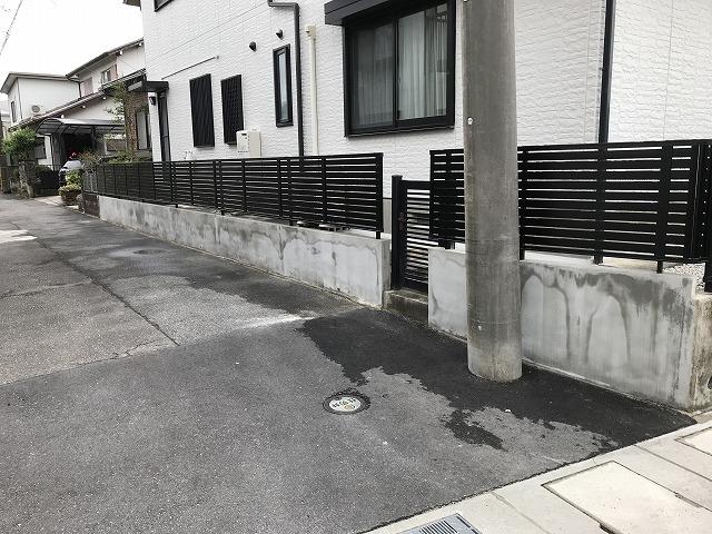 尾張旭市 T様 ブロック塀の地震対策 ブロック解体してフェンスに取り換え LIXILプレスタY7型 H=80Cm