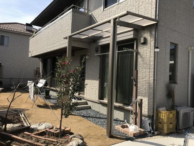 尾張旭市 1階独立テラス 三協レボリューD2.0間×4尺 ロング柱