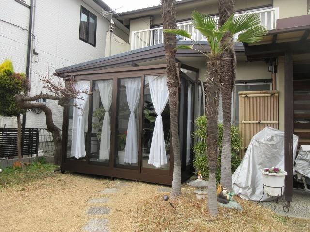 名東区 M様 ガーデンルーム 大仙 ソレイド1.5K×6尺 ライトブラウン
