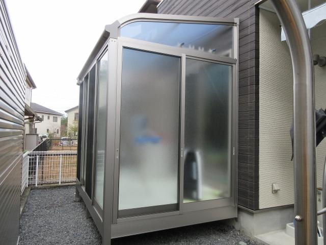 瀬戸市 ガーデンルーム ソレイドR1.5K×6尺 型ガラス 目隠しフェンス