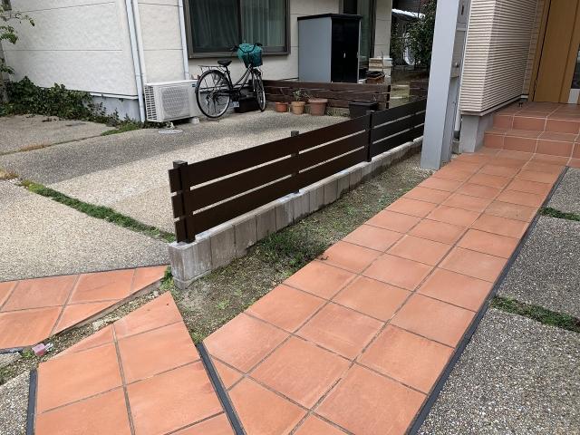 尾張旭市 M様 腐食木製フェンス 交換 アーバンフェンスH42㎝ L6.1m