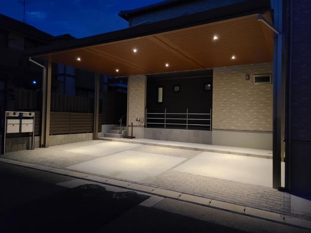 守山区 タチ基ホーム 新築外構