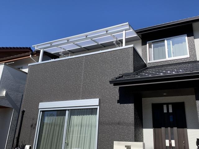 尾張旭市 2階のテラス リクシル スピーネF型 間口4.5m×出幅1.8m 自在桁