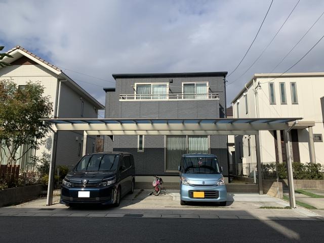 守山区 車庫増設工事 カーポート3台用 三協スカイリード5080 H25