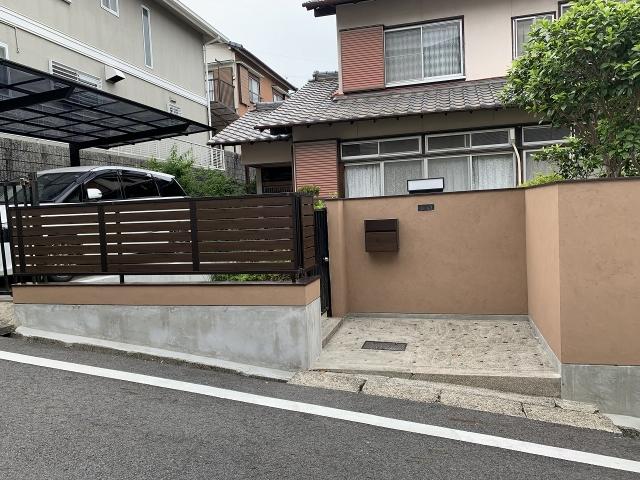 瀬戸市 ブロック解体してフェンスにリフォーム 三協アルミ シャトレナM1型 H800