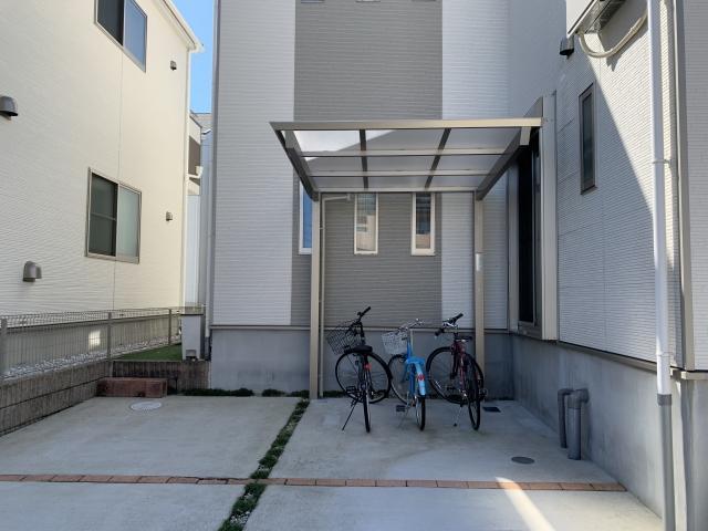 尾張旭市 サイクルポート 自転車置き場 三協アルミ セルフィミニ 2221 H25 ポリカ屋根
