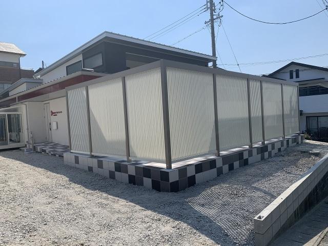 瀬戸市 2台用連棟カーポート リクシル フーゴF 3057×2連棟