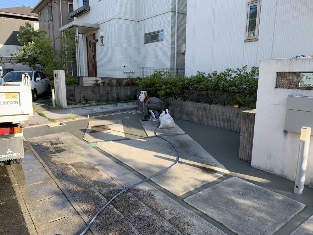 守山区 車庫増設 防草対策 リフォーム工事